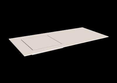 Recogedor agua para ducha solid surface Acrylic 75 X 75 cm min. Standard White