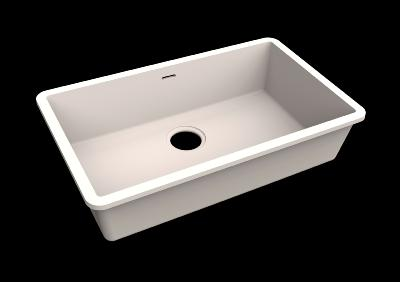 Fregadero Solid Surface Acrylic 70 X 40 X 17,5 cm Polar White